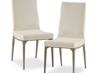 Set of 2 Cream Dining Height Madison Park Callaway Cream Dining Side Chairs  Set of 2  17 5w x 23 5 d x 38 h Retail  366 49