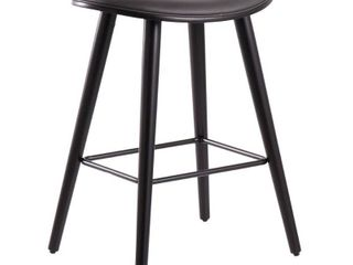 Grey  Copper Grove lolua Faux leather Saddle seat Counter high Bar Stools  Set of 2  Retail 173 49