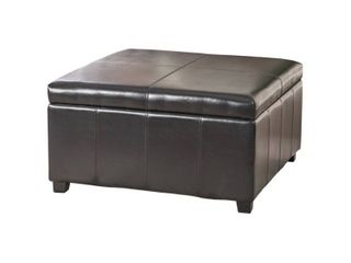 Storage   Storage Ottoman   Solid   Bonded leather Upholstered   Brown   Assembly Required   Modern   Contemporary   Medium   Square  Retail 283 98