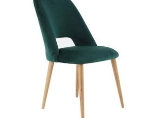 Modern Green Wood and Fabric Cushioned Dining Chair by Studio 350 Retail  156 47