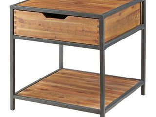 Madison Park Ryker Natural Graphite End Table   Retail 193 00