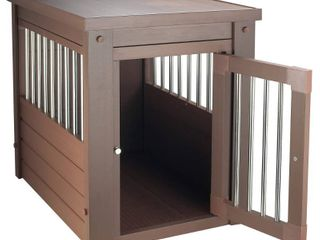 large Espresso EcoFlex Dog Crate   End Table Retail  254 49