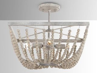 The Curated Nomad Ritch 4 light Sand Brown Semi flush Mount Retail  219 49