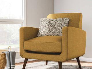 Carson Carrington Keflavik Gold Yellow Mid Century Accent Chair   Retail 238 00