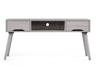Grey Frieda Mid Century Modern Wood TV Stand with Drawers by Christopher Knight Home Retail  129 99