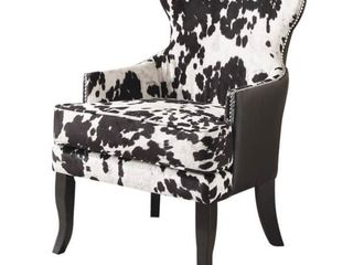 The Gray Barn Singing Elk Accent Chair Retail  489 99 Black White  Retail 489 99