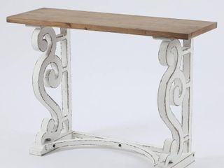Wood Rustic Vintage Console and Entry Table  Retail 156 49