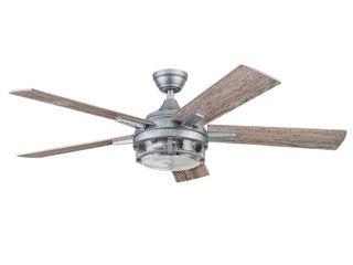 Galvanized 52 Prominence Home Freyr Indoor   Outdoor Craftsman Ceiling Fan  Galvanized Retail  239 99