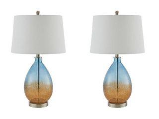 510 Design Cortina Blue Table lamp  Set of 2  Retail 149 97