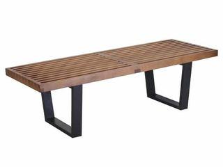 Birch Wood Walnut Finish Wood Handmade Nelson Style 48 inch Platform Bench Dark Walnut  China  48 Retail  299 49