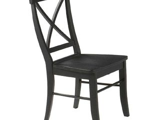 International Concepts Crossback Chairs with Solid Wood Seats  Set of 2  Multiple Finishes