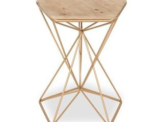 Kate and laurel Ulane Metal Side Accent Table with Wood Top  Retail 129 99