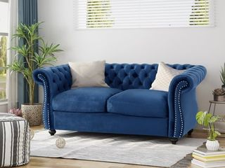 Somerville Traditional Chesterfield loveseat by Christopher Knight Home  Retail 482 34