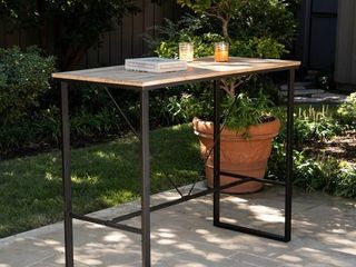 Venmore Natural Wood Indoor Outdoor Pub Table by Havenside Home Retail  244 99