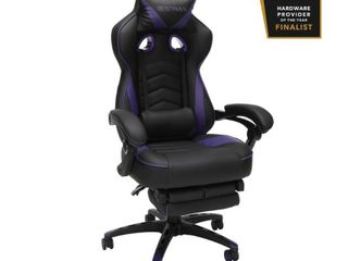 RESPAWN 110 Racing Style Gaming Chair  Reclining Ergonomic leather Chair with Footrest  in Purple  RSP 110 PUR