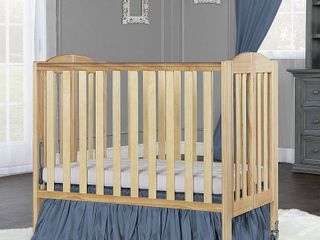 Dream On Me 2 in 1 Birch Folding Portable Crib Natural