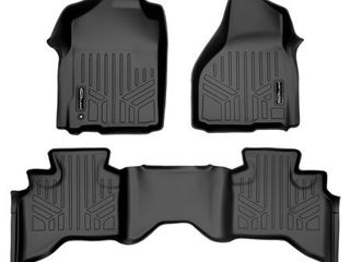 MAXlINER Floor Mats 2 Row liner Set Black for 2009 2012 Dodge Ram 1500 Quad Cab