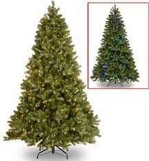 National Tree 7 5  Dunhill Fir Hinged Tree with 750 Clear lights and PowerConnect System