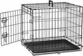 Amazonbasics Single door Folding Metal Dog Crate  Black  48 inch