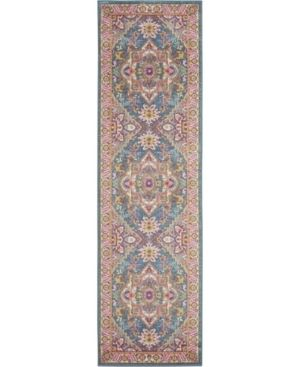 Nourison Passion Persian Center Medallion Teal Multicolor Area Rug