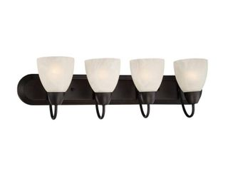 Designers Fountain 15005 4B 34 Torino Bathroom light In Oil Rubbed Bronze