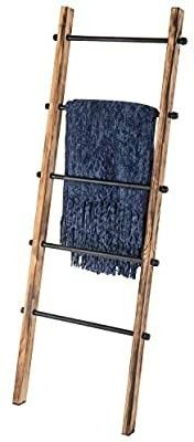 RUSTIC 5FT WOOD AND METAl BlANKET lADDER