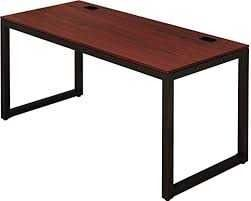 Shw Home Office 55 inch large Computer Desk  Black cherry Cherry