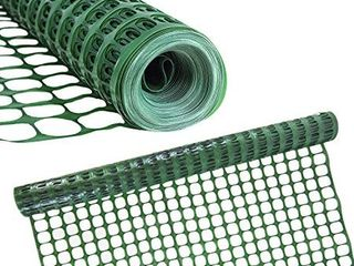 Houseables Plastic Mesh Fence  Construction Barrier Netting  Green  4 x100  Feet  1 Roll  Garden Fencing  Fences Wrap  Above Ground  for Snow  Poultry  Chicken  Safety  Deer  Patio  Garden Netting