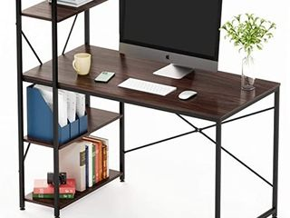 BESTIER 55 INCH COMPUTER DESK  BROWN