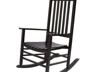Vermont Porch Rocker Black   Shine Company Inc