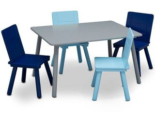 Delta Children Kids  Table and Chair Set 4 Chairs Included   Gray Blue
