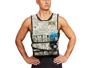 CROSS101 Camouflage Adjustable Weighted Vest Without Shoulder Pads