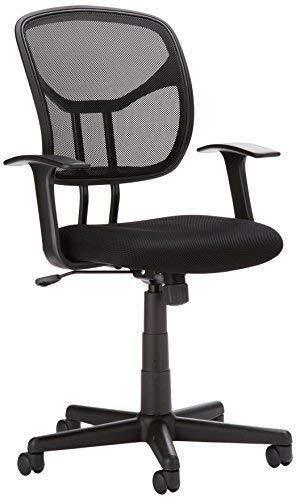AmazonBasics Mesh  Mid Back  Adjustable  Swivel Office Desk Chair with Armrests  Black