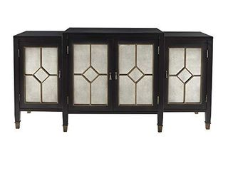 Madison Park lyle Media Console Cabinet   Modern luxe  Center Part only  Black
