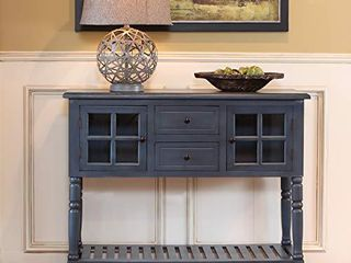 DAccor Therapy Accent Table  Antique Navy