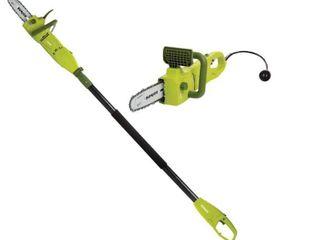 Sun Joe 8 7 5 Amp Electric Pole Chain Saw   Green