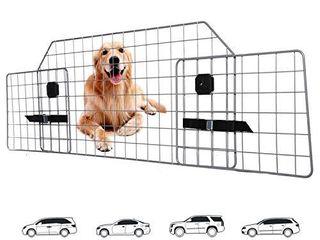 Adakiit Dog Barrier for SUV Car   Vehicles  Adjustable Pet Barrier Car Gate Universal Fit Wire Mesh Dog Car Guard   Car Divider for Dogs Pets SUVs
