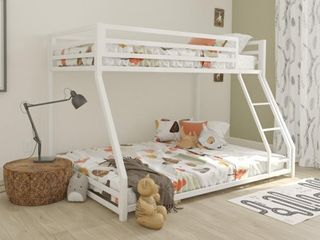 DHP Miles Metal Twin Over Full Bunk Bed