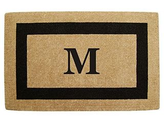 Heavy Duty Coco 30  x 48  Mat Black Single Picture Frame  Monogrammed M
