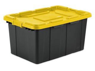 Sterilite 27 Gallon Yellow lily Industrial Tote  2 Piece