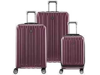 DElSEY Paris Titanium Hardside Expandable luggage with Spinner Wheels  Purple  3 Piece Set  19 25 29