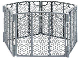 Evenflo Versatile Playspace Indoor Outdoor Gate  Cool Gray