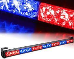 YITAMOTOR 30 Inch Traffic Advisor light Bar Police Emergency Directional Flashing Safety Strobe light Bar  12V 24V  Red Blue
