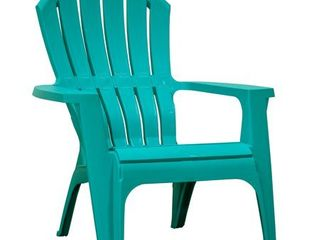 Adams Manufacturing RealComfort Outdoor Resin Adirondack Chair  Teal small crack