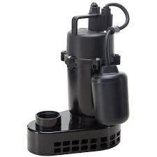 utilitech submersible sump pump cast aluminium