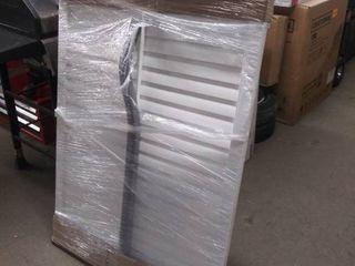 levolor White plastic adjustable vented cover