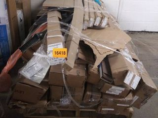 skid of variety of blinds shades and items