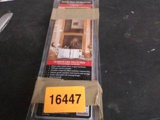 screen door hardware kit white 3 pkgs