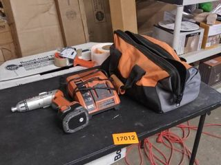 rigid drill with crater and bag