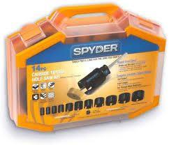 Spyder 14 Piece Carbide Tipped Deep Cut Hole Saw Kit used